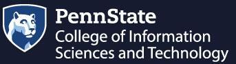 PennState College of Information Sciences and Technology Logo